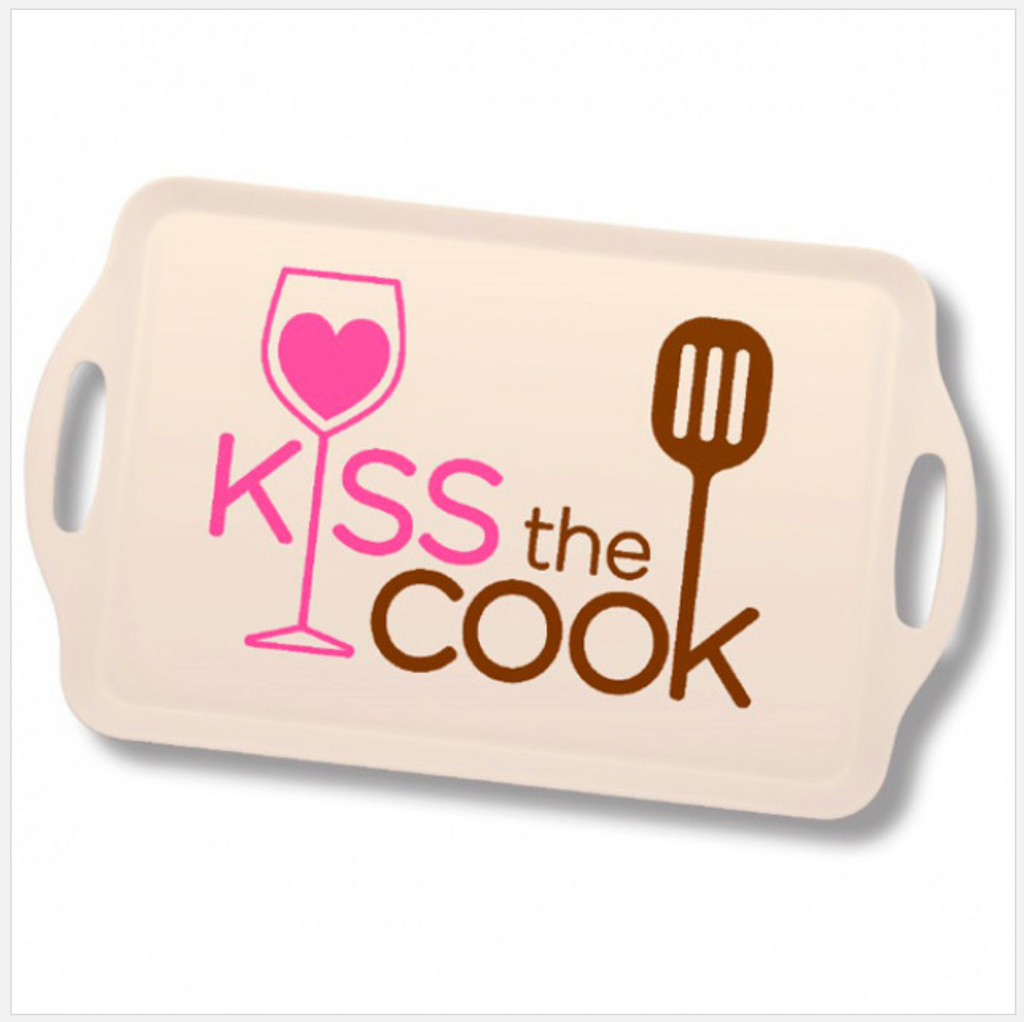 Kiss The Cook Serving Tray