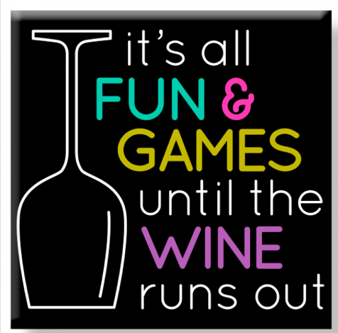 Fun & Games Wine Magnet Magnet