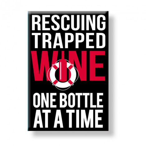 Trapped Wine Magnet