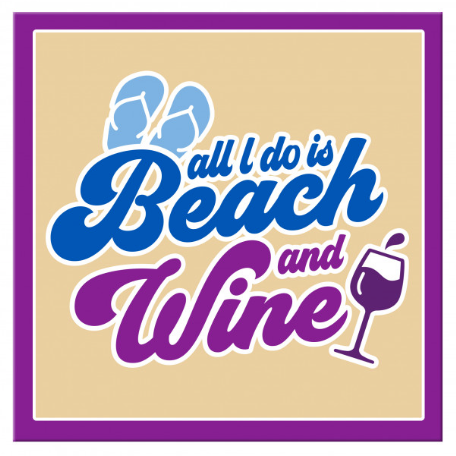 Beach and Wine Magnet