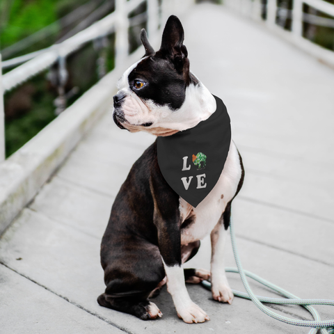 Lucky in BuffaLOVE Rock Salt Life Black Pet Bandana-FREE SHIPPING
