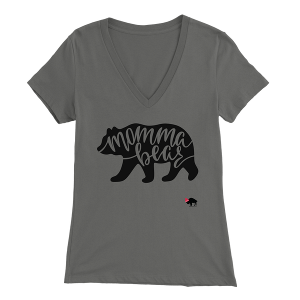 Momma Bear Womens V-Neck