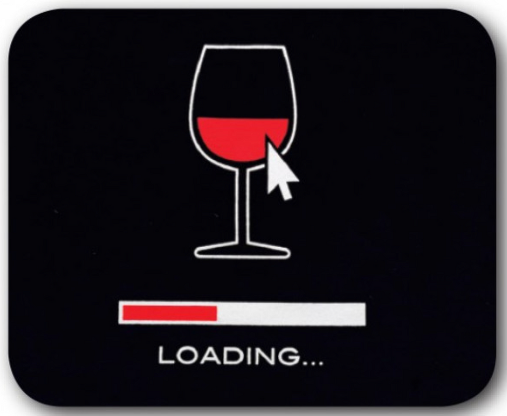 Wine Loading Mouse Pad