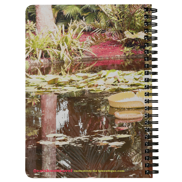 REFLECT Water Fountain Print Spiralbound Notebook @eatshoottravel