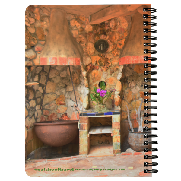 Spanish Kitchen Print Spiralbound Notebook @eatshoottravel