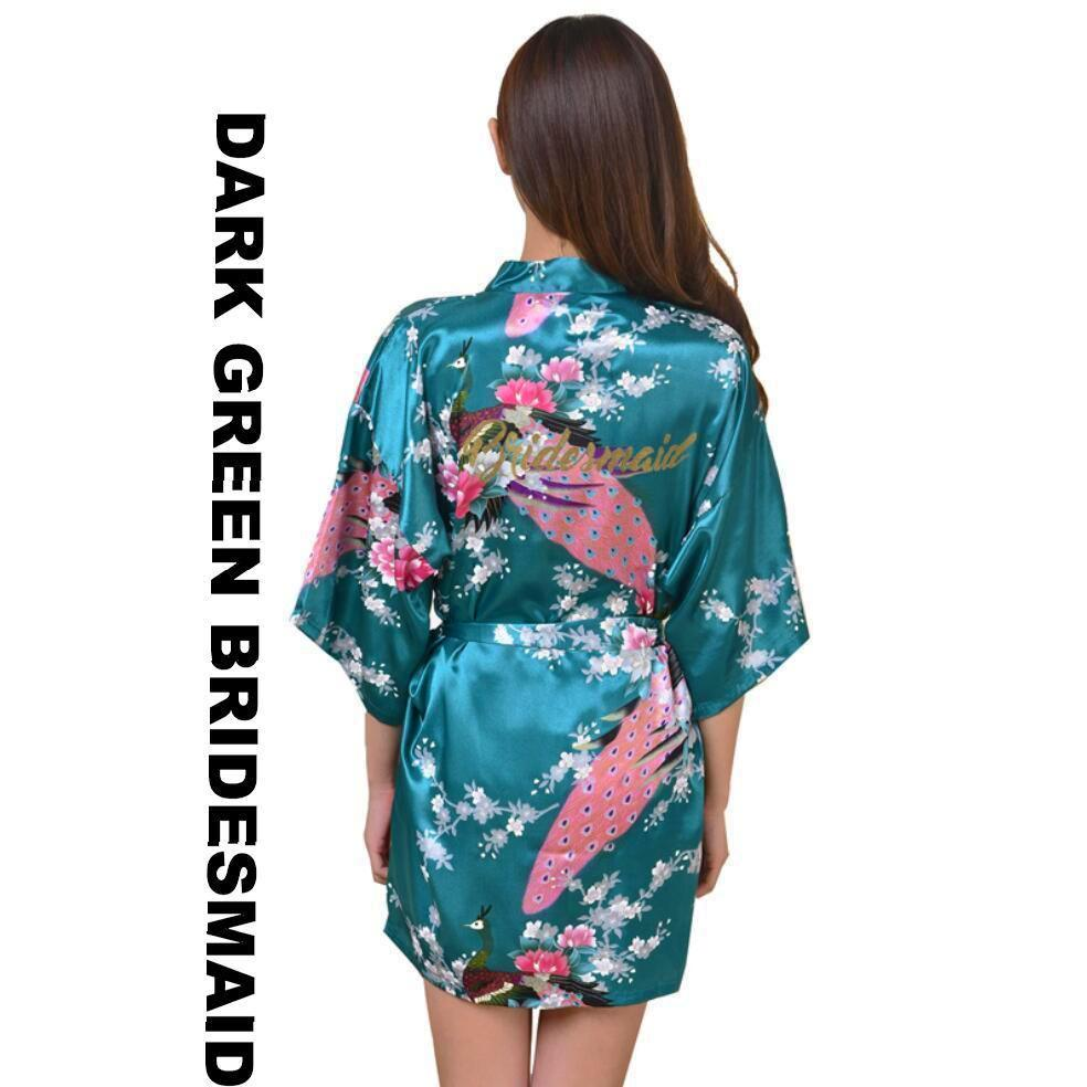 a1259e412c196 Satin Kimono Robes for Bride and Wedding Party Maid of Honor Bridesmaid