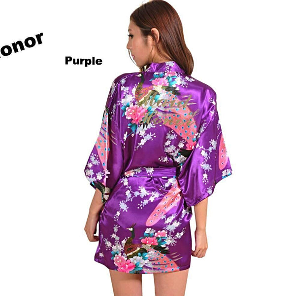 Purple Maid of Honor Kimono Robe