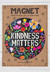Kindness Matters Circle Car Magnet