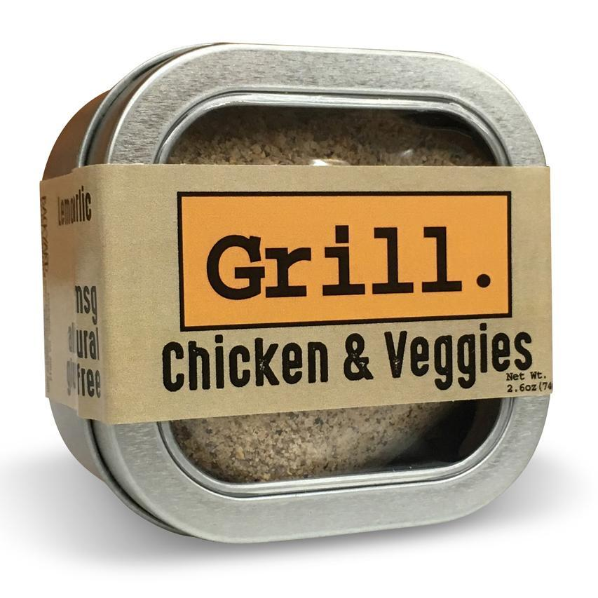 Chicken + Veggie Lemon Zest and Garlic Spice Rub Tin