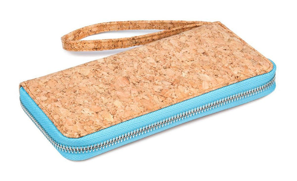 Baby Blue Cork Clutch