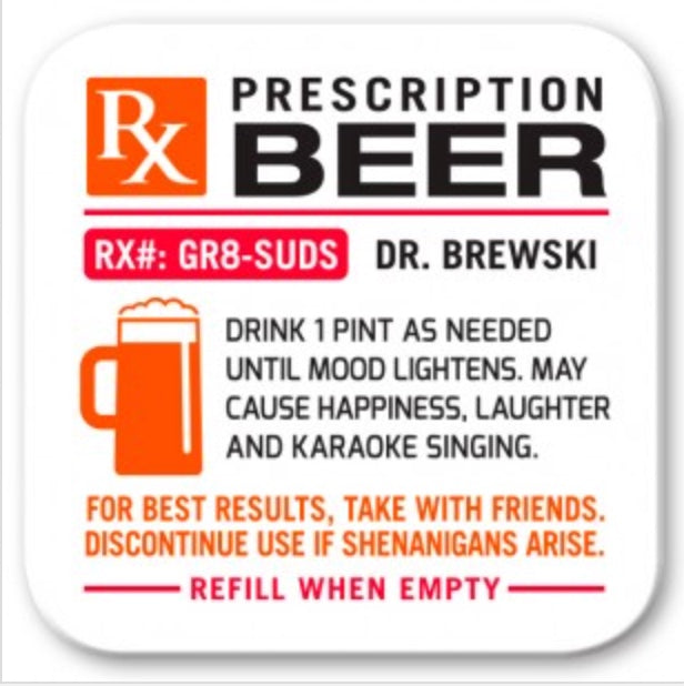 RX Beer Wooden Coaster