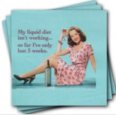 Liquid Diet Wine Napkins