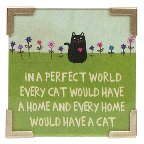A Perfect World With Cats Magnet