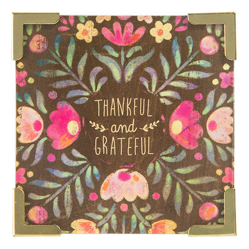 Thankful and Grateful Corner Magnet