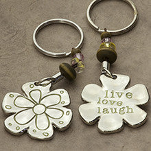 Live Laugh Love Token Keychain