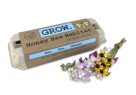 Grow Honey Bee Flower Egg Carton Garden
