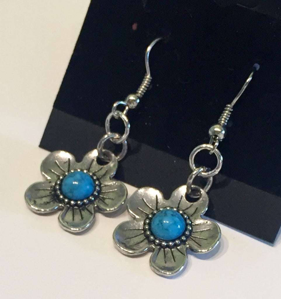 Turquoise Flower Power Earrings