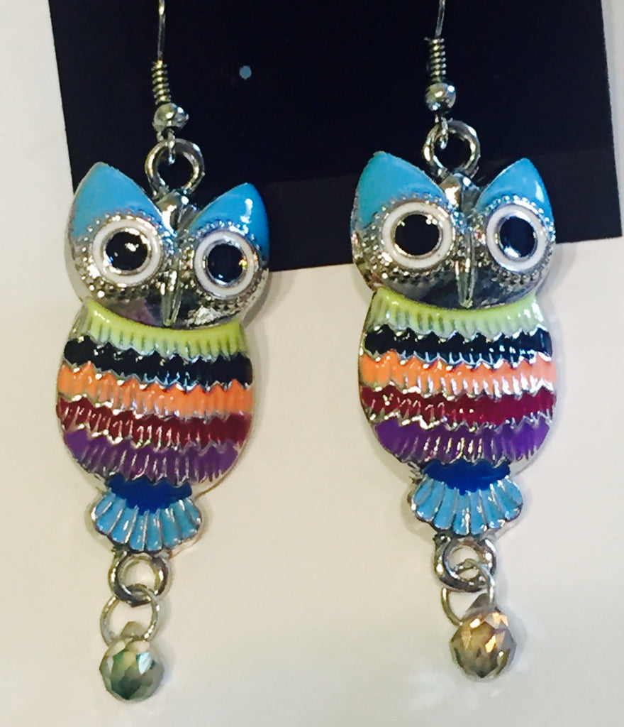 What a HOOT Fancy Owl Earrings