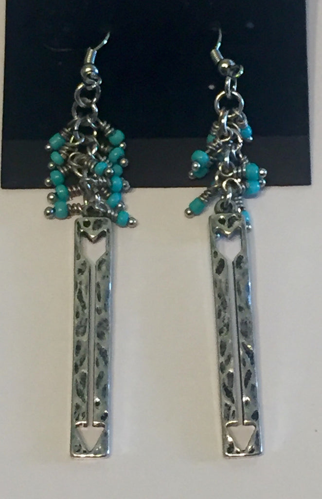 Native Arrows with Turquoise Earrings
