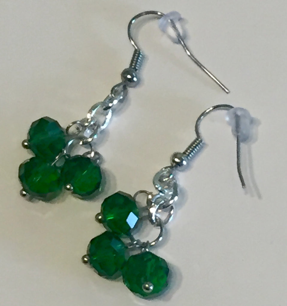 Green with Envy Crystal Earrings