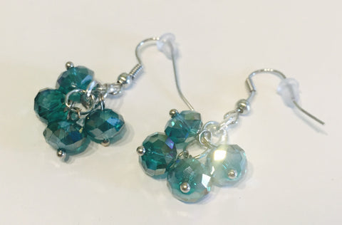 It's a Teal! Crystal Earrings