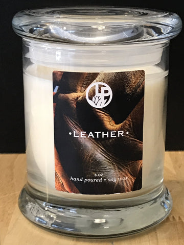 Leather Handmade Soy Wax Candle