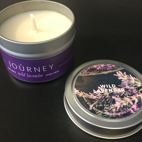 4 oz Wild Lavender Journey Travel Candles