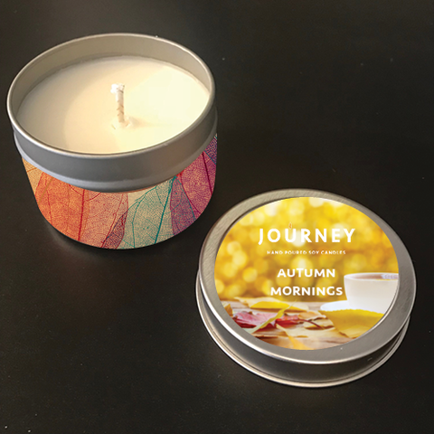 Autumn Morning Journey Candle Tin