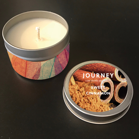 4 oz Sweet Cinnamon Journey Travel Candles