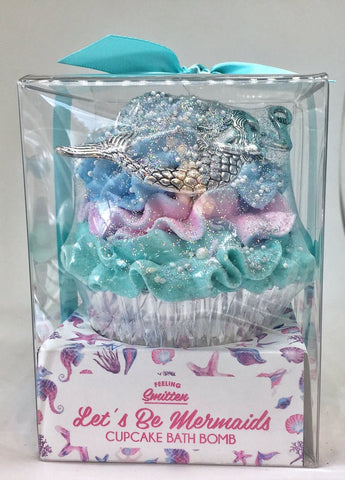 Large Mermaid Cupcake Bath Bomb