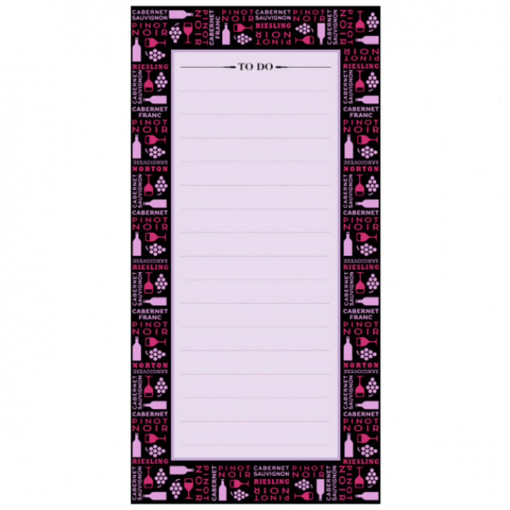 Magnetic Wine Theme Notepads