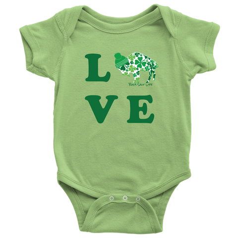 Lucky In Love BuffaLove Baby Bodysuit