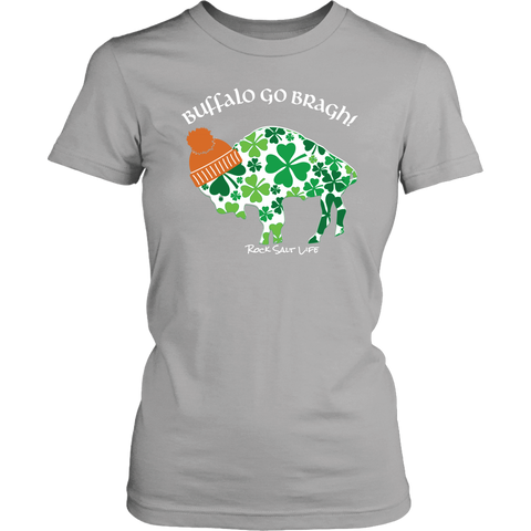 Buffalo Go Bragh! Rock Salt Life© District Womens T-Shirt