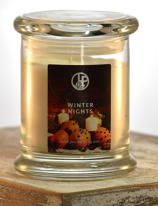 8oz Holiday soy wax jar candles