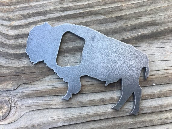 Bison Steel Bottle Opener