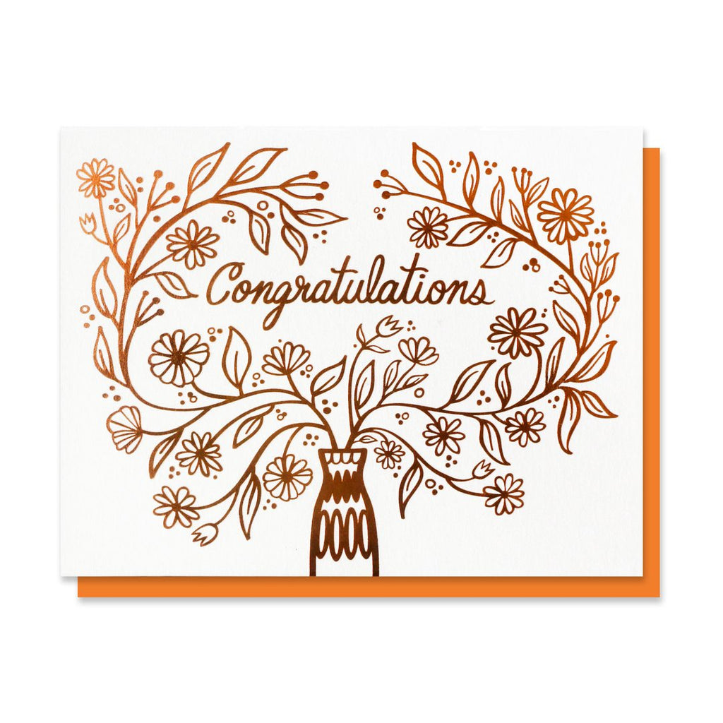 Copper Bouquet Congratulations Card