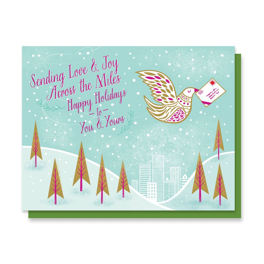 Love and Joy Dove Holiday Card