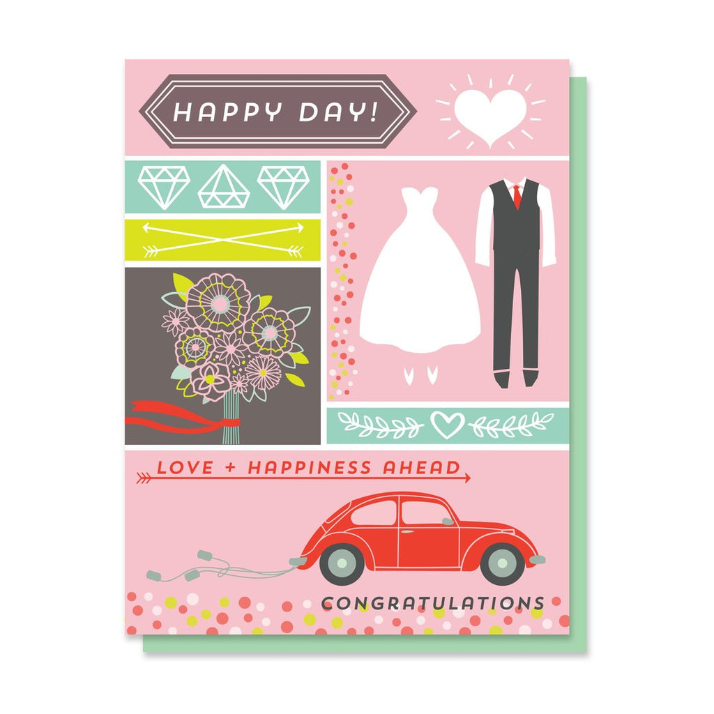 Happy Day Wedding Card