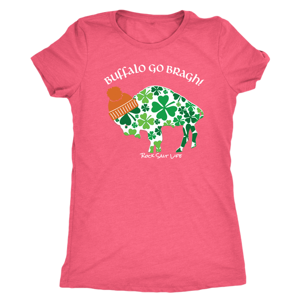 Buffalo Go Bragh! Rock Salt Life© Next Level Womens Triblend T-Shirt