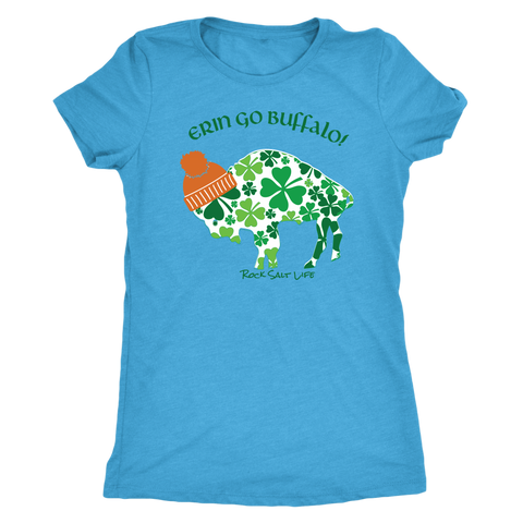 Erin Go Buffalo Rock Salt Life St. Patricks Day Womens T-Shirt