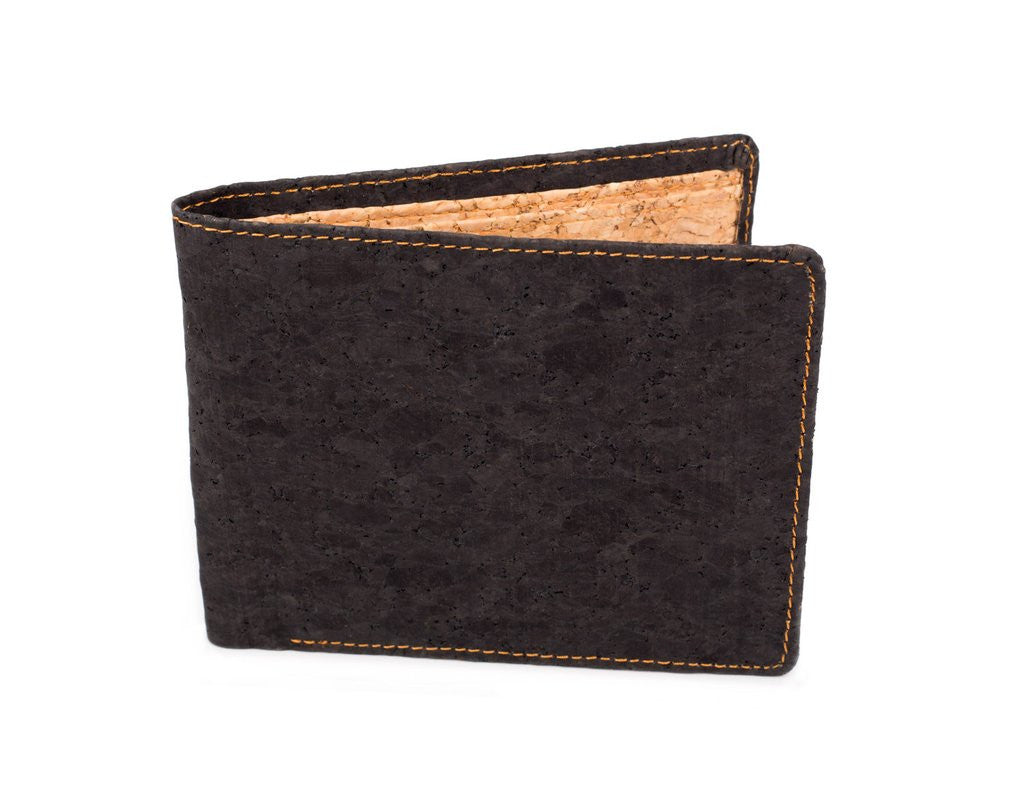 Natural Cork 3 slot bi-fold lightweight wallet