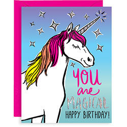 Magical Unicorn Birthday A2