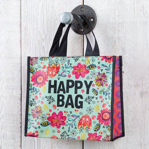 Turquoise Happy Medium Recycled Gift Bag