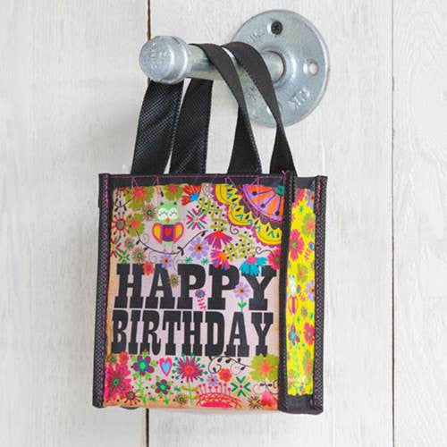 happy birthday recycled bag