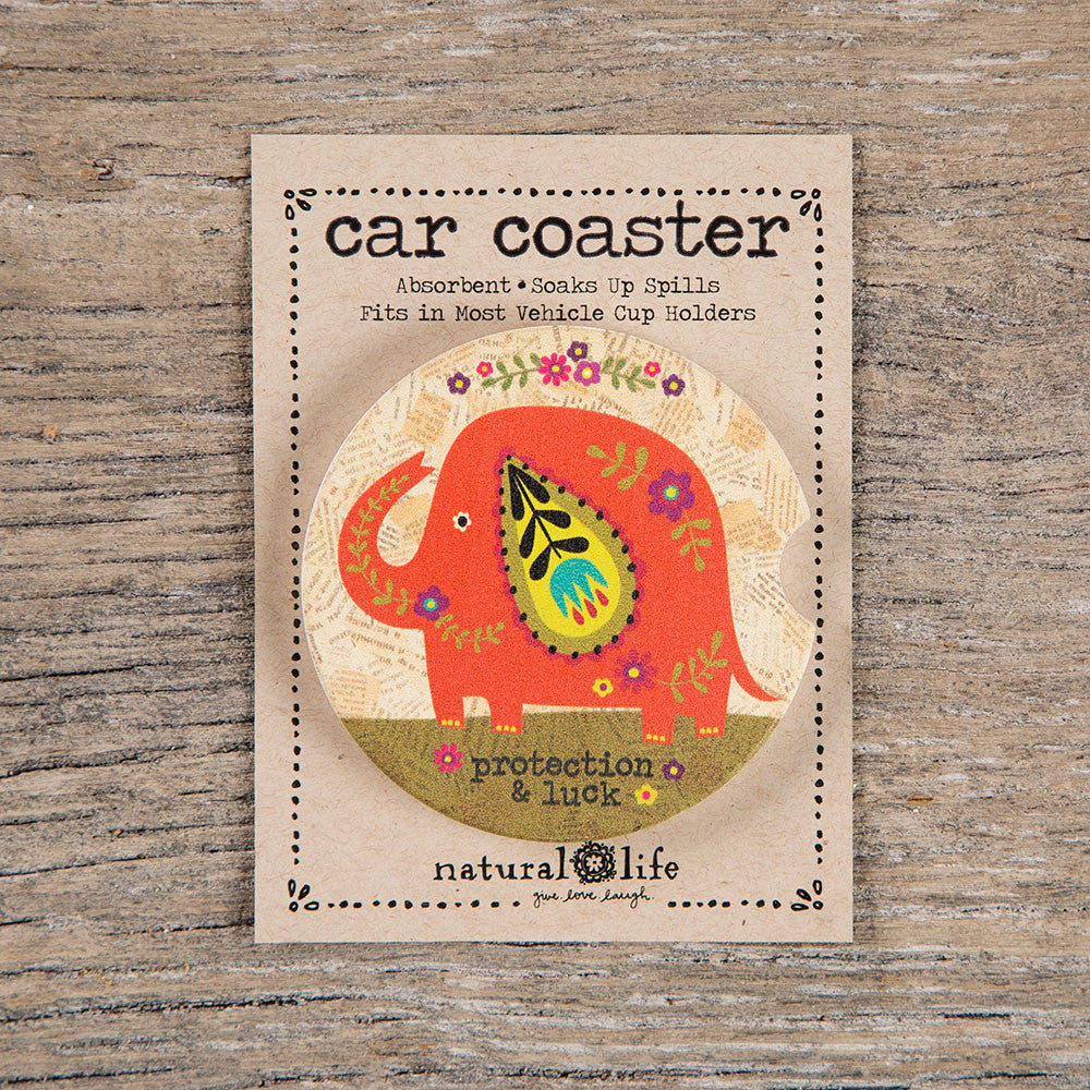 orange elephant car coaster