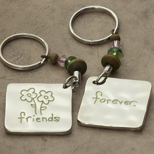 friends forever token keychain