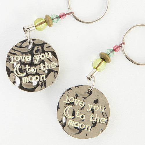 love you to the moon token keychain