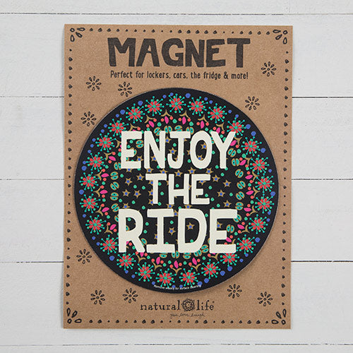 Enjoy The Ride Circle Car Magnet