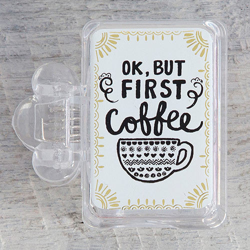 """ok but first coffee"" toothbrush cover"