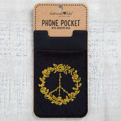 Phone Pocket Peace Sign